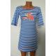 Платье - полоска голубое К-07024
