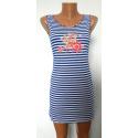 Платье голубое К-07021