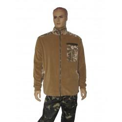 """Куртка флісова колір """"Койот""""з камуфляжними вставками"""