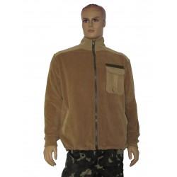 """Куртка флісова колір """"Койот"""" з однотонними вставками"""