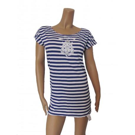 Платье - туника голубое вязанное