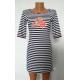 Сукня - смужка  темно-синя К-07023