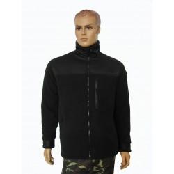 """Куртка флисовая с вставками, цвет """"Черный"""""""